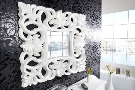 Zrcadlo Baroque S white,