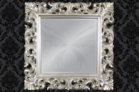 Zrcadlo Baroque Square silver,