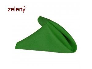50ks zelených banketových ubrousků 25x25cm,