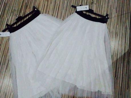 Tylové sukně - bilé , M