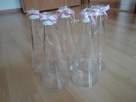 Set dekorací na romantickou růžovo-bílou svatbu,