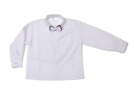 Bílá košile s motýlkem,dlouhý rukáv,vel. 74-140, 134