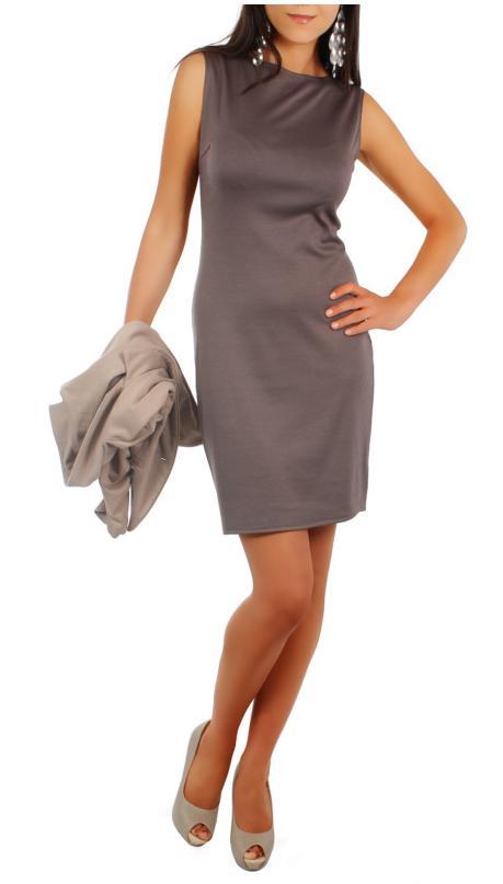 Elegantní pouzdrové, strečové šaty, vel S/M a L/XL, L