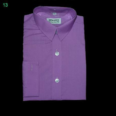 Košile fialková s dlouhým rukávem, 134