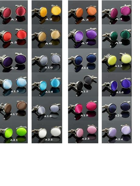 Manžetové knoflíčky  24 různých barev,