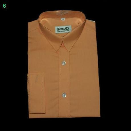 Oranžová košile s dlouhým rukávem, 98