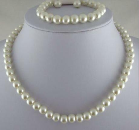 Perličkový setík - naušnice, náramek a náhrdelník,
