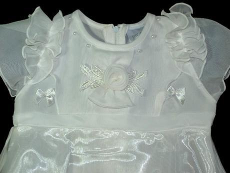 šatičky pro družičku, na křtiny, oslavy - bílé, 86
