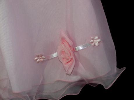 šatičky pro družičku, na křtiny, oslavy - růžové, 92