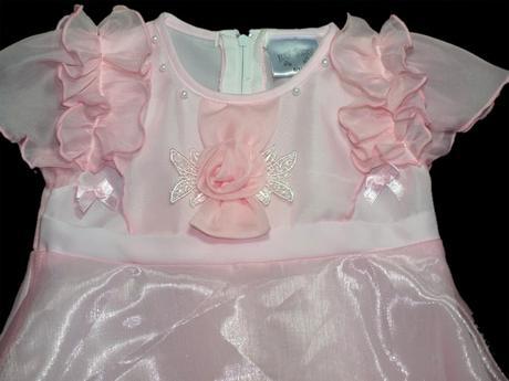 šatičky pro družičku, na křtiny, oslavy - růžové, 80