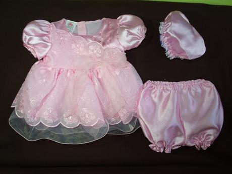 Šatičky pro mini družičky, křtiny, svatby - růžové, 68