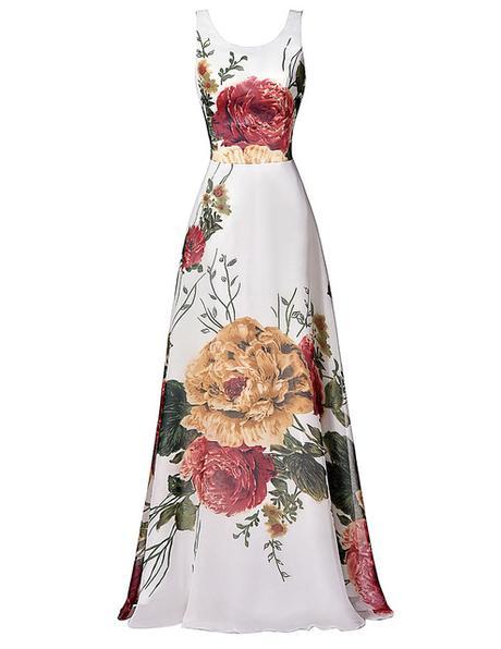 b0220e99cb00 Kvetinové spoločenské šaty