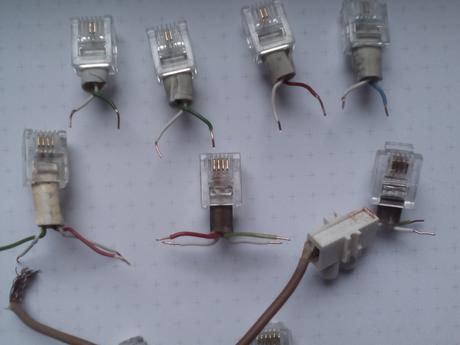 Prepojka vodic-konektor rj11 6P4C,