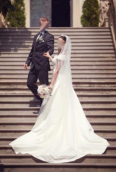 Svadobné šaty, veľkosť 36, 38