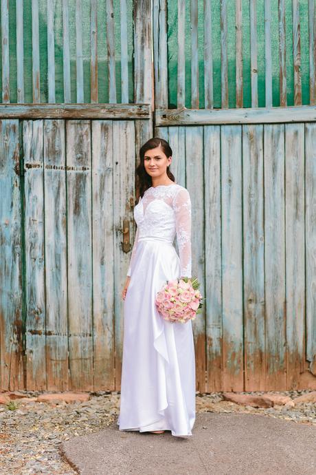 Snové svatební šaty - krajka/satén , 36