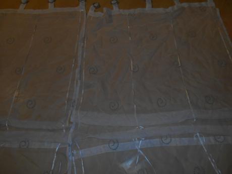 3 x záclona s háčikmi ,