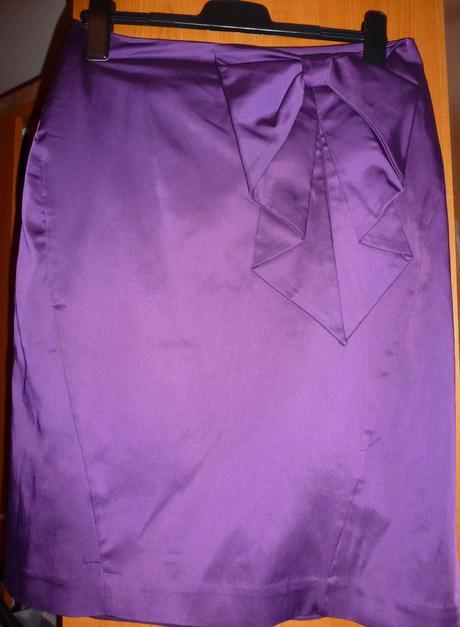 Fialová sukňa H&M, 44