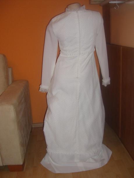 bílé dlouhé svatební šaty vel 36/38, 36
