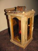 dekorační dřevěná lampa na svíčku,stylová lucerna,