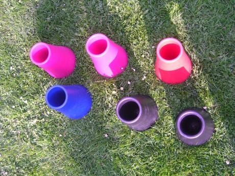 IKEA OVANLIG barevná Váza,vázička,květináč,