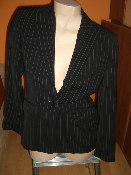 sako+kalhoty kalhotový kostým černý+proužky-Esprit, S