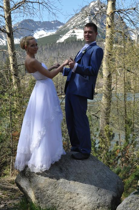 Svadobné šaty vpredu krátke , 34