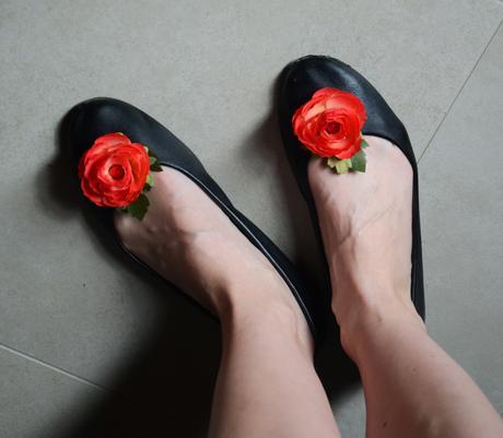 Květinové klipsy / brože na boty - na přání,