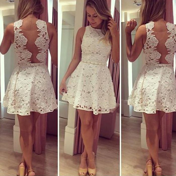 Krajkové krátké šaty ba52098eb1f
