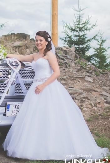 Svatební pohodlné šaty, 40