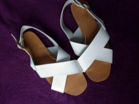 bílé sandálky sandále, 36