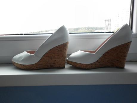 bílé značkové boty na platformě, 36