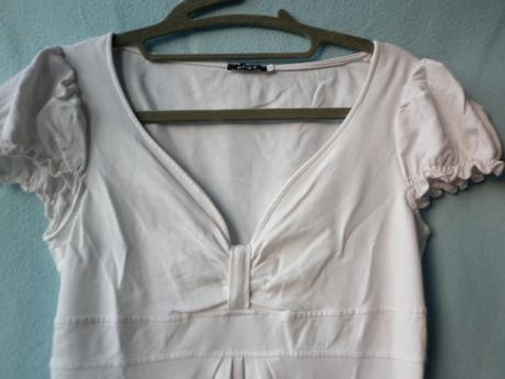 elastické bílé šaty, 38