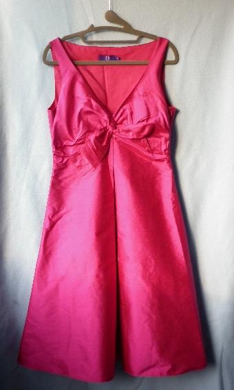 fuchsiové retro vintage šaty, 38