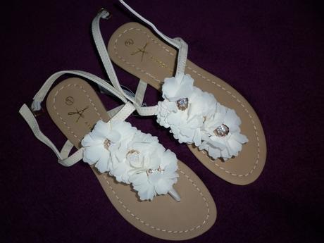 květinové sandálky žabky, 36