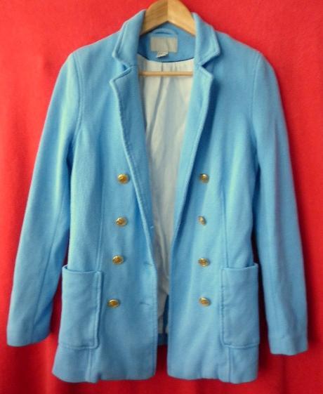 modrý kabát sako, 38