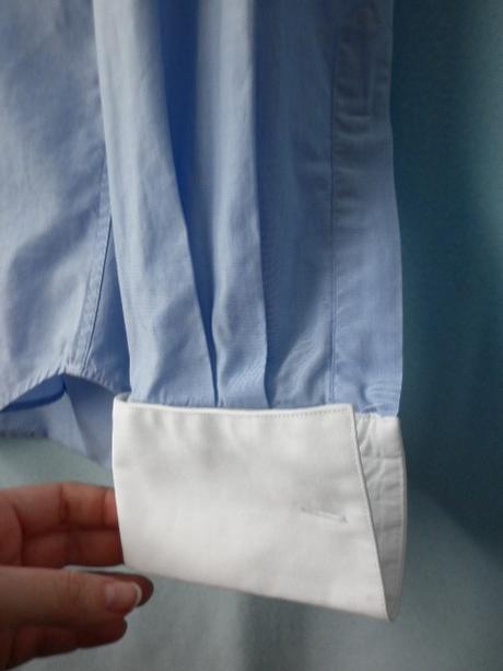 pánská modrá manžetová košile, 40