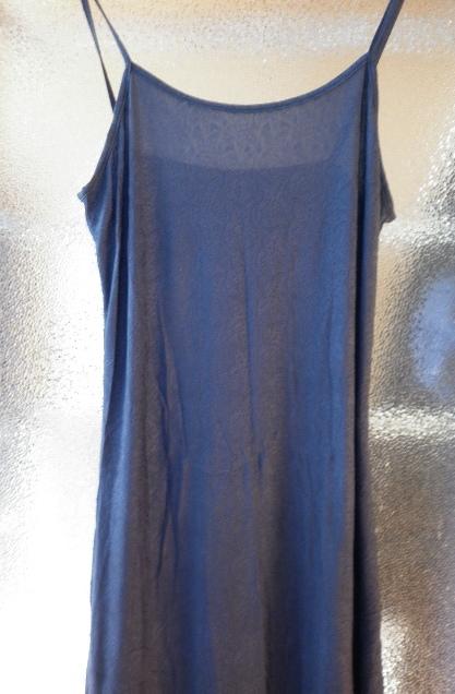průsvitné modré šaty, 40