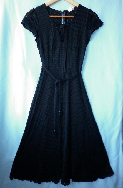 Retro vintage černé šaty 236b494893