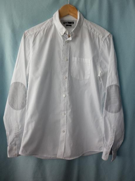 stylová pánská bílá košile, 40
