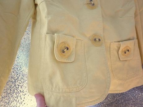 veselý žlutý kabátek sako, 36