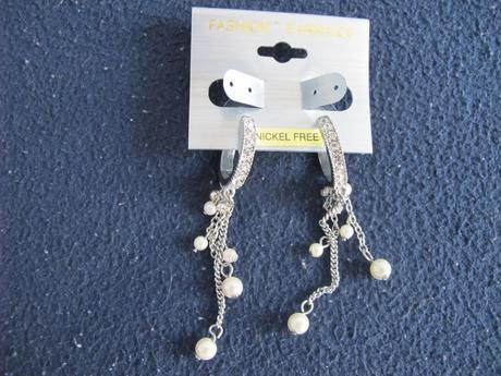 Náušnice s kamínky a perličkami,