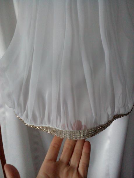 krátke svadobné šaty prípadne popolnočné, 36