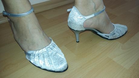 Svadobné strieborné sandálky, 38