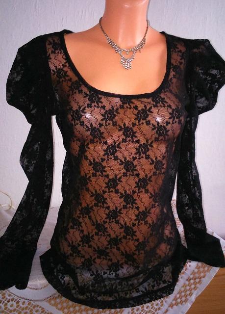 Luxusna cipkovana riasena tunika only, L