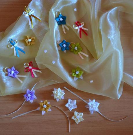 Svadobné pierka,  čelenky, kytičky, náramky ,