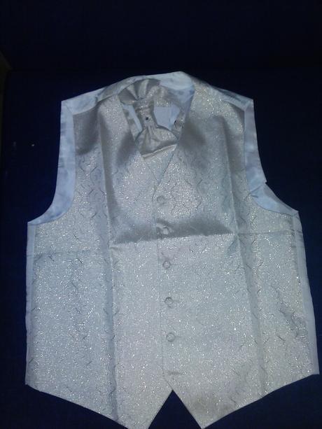 Vesta svadobna s malou kravatou - 38, 38