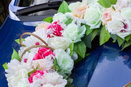 Výzdoba na svadobné auto - doručím osobne,
