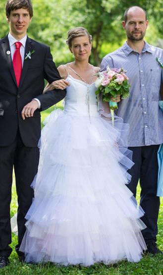 Svatební šaty Swarovski elements Original, 36