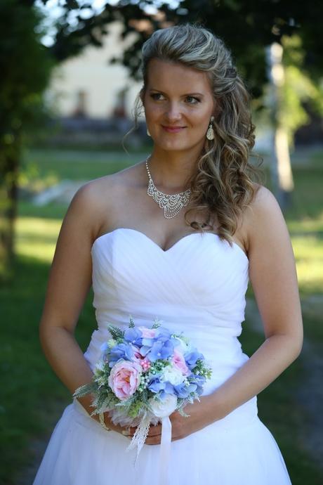 Svatební šaty tylové prodloužené vel.42, 42