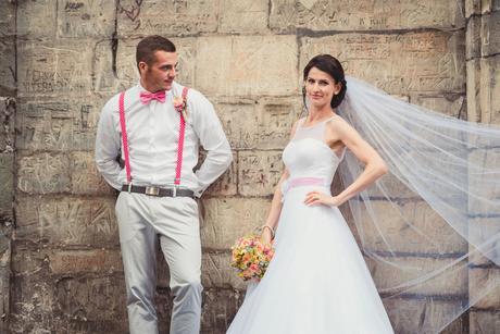 Svatební šaty tylové puntík 34/36, 36